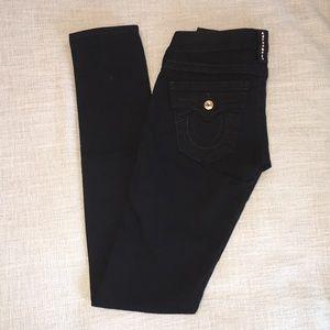 True Religion Swarovski Black Skinny Jean